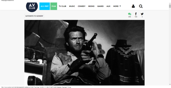 Spaghetti Westerns · Gateways To Geekery · The A.V. Club